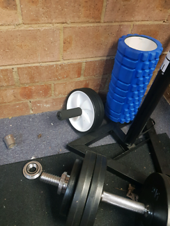 Free weight home gym set up