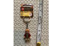 Lego Minifigure hobbit Bilbo Baggins Keyring BNWT New
