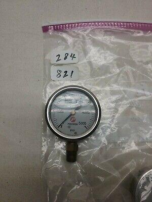Precision Liquid Filled Hydraulic Pressure Gauge 0 - 5000 Psi