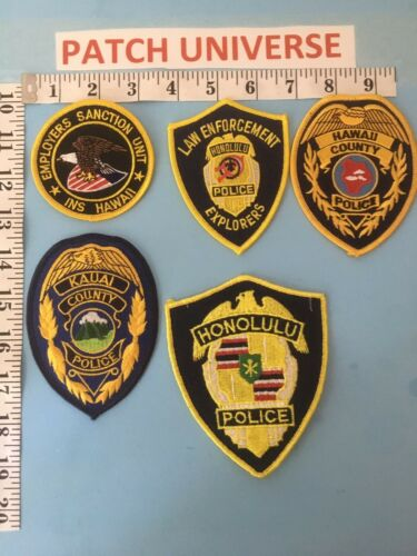 LOT OF 5 DIFFERENT HAWAII  SHOULDER PATCHES  C100