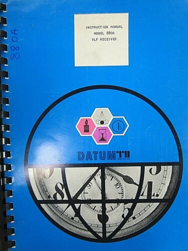 Datum  Model 880A VLF Receiver Instruction Manual