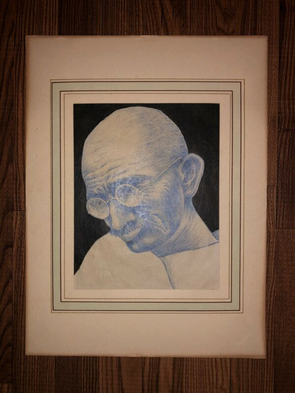 Historical Sketch Of Mahatma Ghandi Done In His Presence