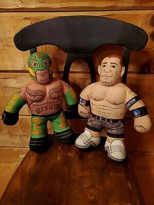 2011 WWE Brawlin Buddy Plush Rey Mysterio John Cena Free Shipping