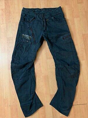g star Raw 3301 Cargo Black Faded Pants  5204 Size 32x34