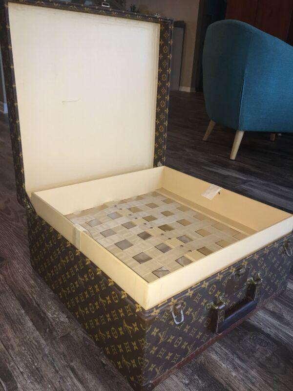 Gorgeous Authentic Louis Vuitton Monogram Vintage 1960s Steamer Trunk Hard Case