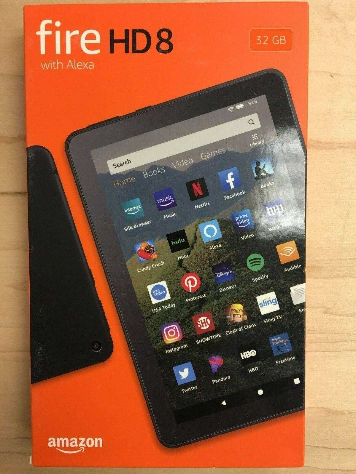 "Kindle Fire HD 8 Tablet with Alexa 8"" HD Display 16 GB Black"