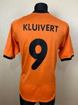 HOLLAND 2000 2002 KLUIVERT HOME SHIRT FOOTBALL SOCCER JERSEY NIKE MENS SIZE L image