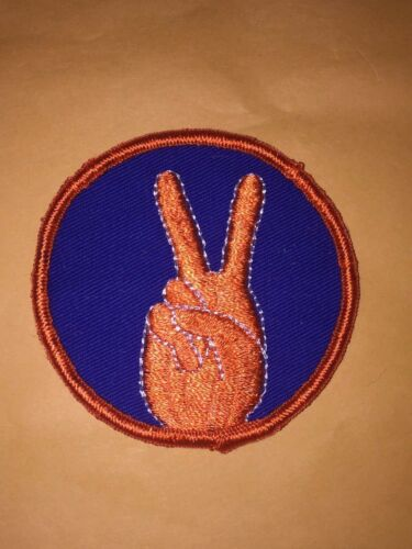 Vintage hippie patch, peace patch