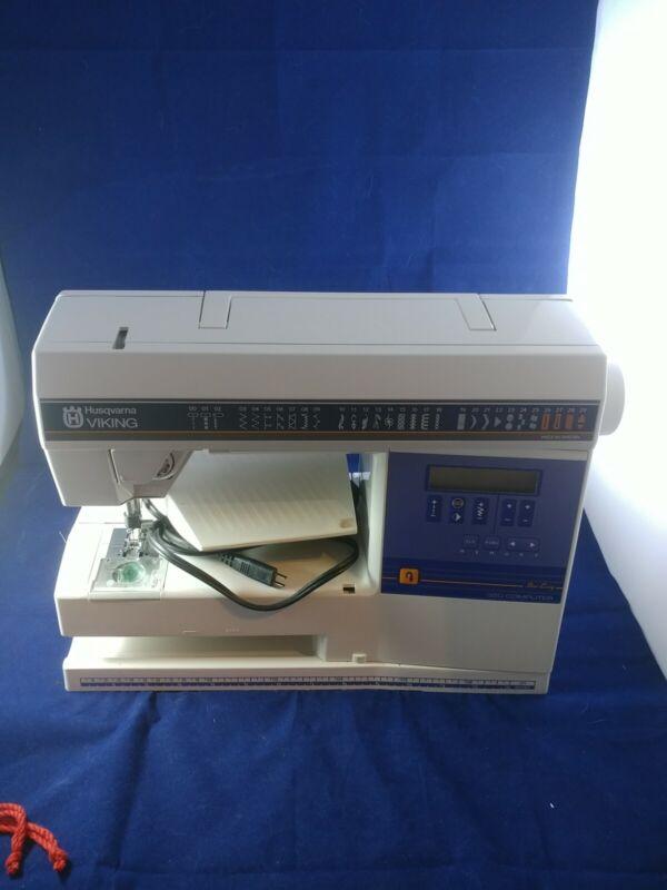 HUSQVARNA VIKING Sew Easy 350 Computer SEWING MACHINE + Foot Controller WORKING