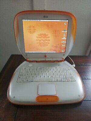 Apple iBook Clamshell G3 TANGERINE 300MHz/320MB Ram/ 6GB HD/OS 9.2  WORKING