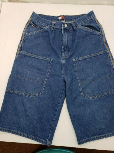 Vintage 1999 Tommy Hilfiger Jean Shorts Youth Boys Size 20