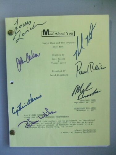 """Mad About You"" Show 605 Autographed Script by Mel Brooks, Helen Hunt and Paul R"