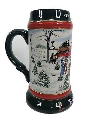 "Budweiser The Season's Best Christmas Beer Stein 1991 Collector Series 7"""