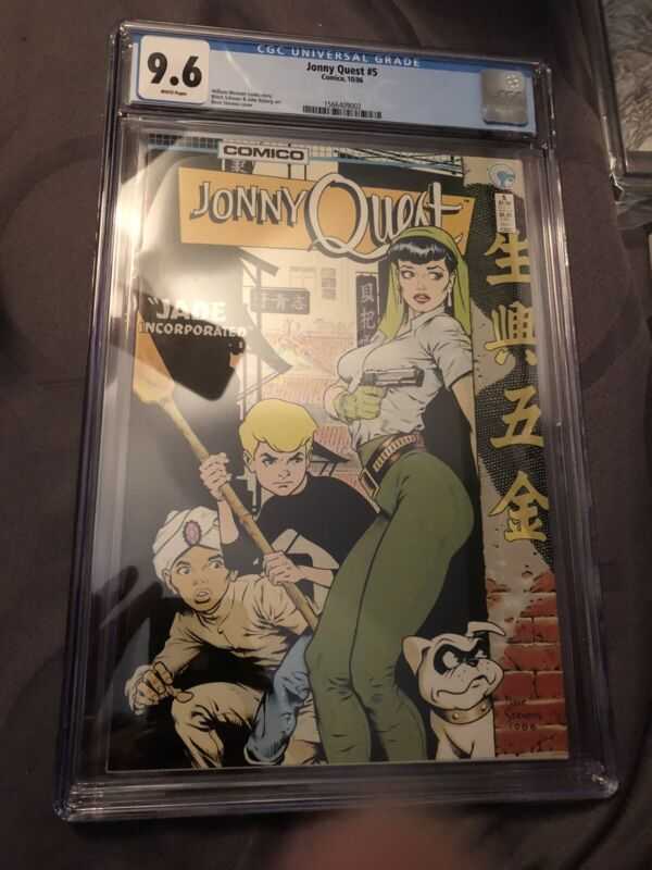 Jonny Quest #5 Dave Stevens Covers 9.6 Cgc Comic