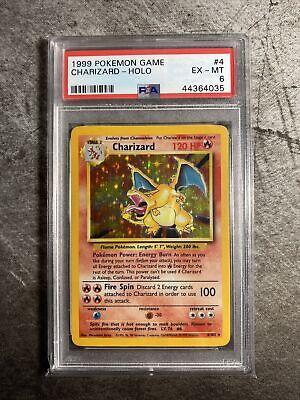 1999 Pokemon Base Set Holo Charizard #4 PSA 6 EXMT