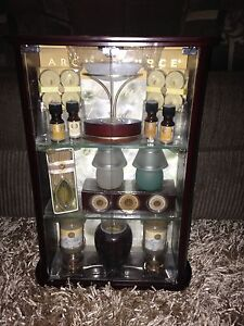 AROMATHERAPY PRODUCTS AND CABINET