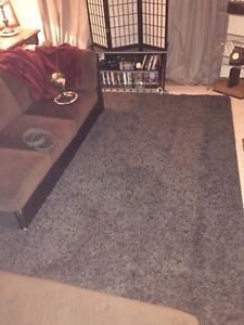 """7'2"""" x 11'5"""" large area rug  - Charcoal"""
