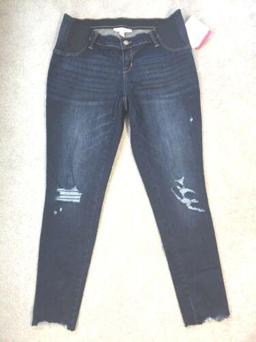 Maternity Inset Panel Distressed Jegging Jeans - Ingrid & Isabel - 10,12,16