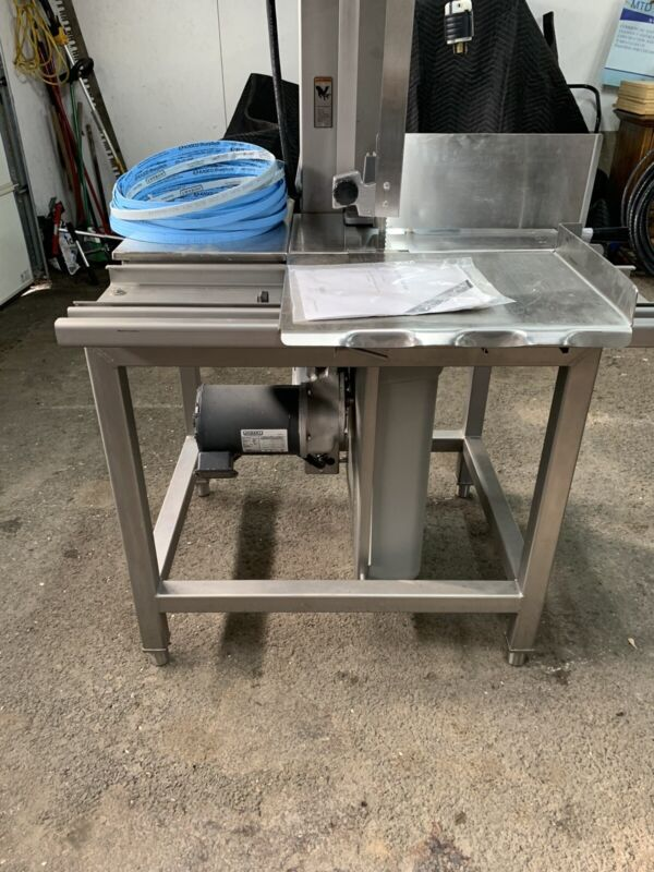 Hobart Stainless Steel Meatsaw Model 6614 With Extra Blades And Instruction Book