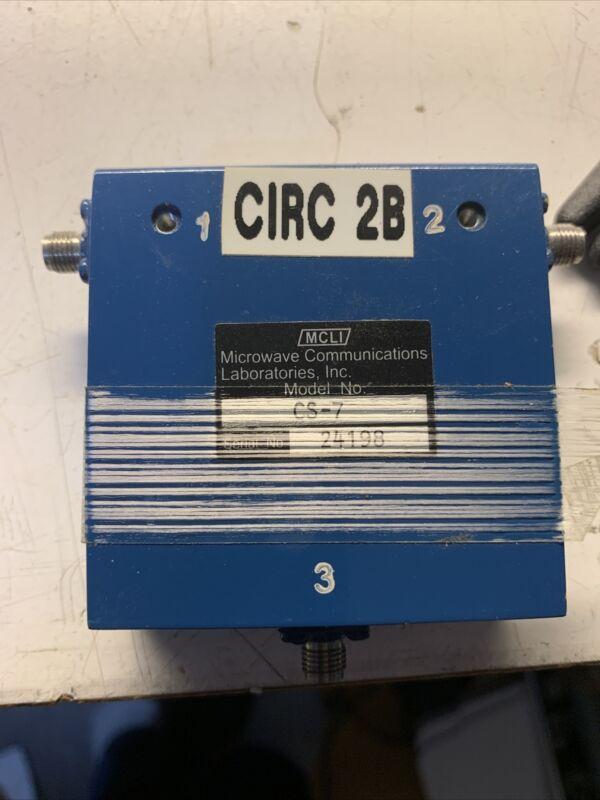 MCLI CS-7 Microwave Circulator 1.5-3GHz