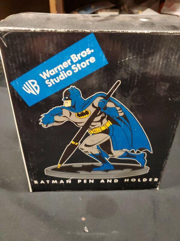 Batman Pen And Holder Statue Figurine Warner Bros Studio Store 1999 in box