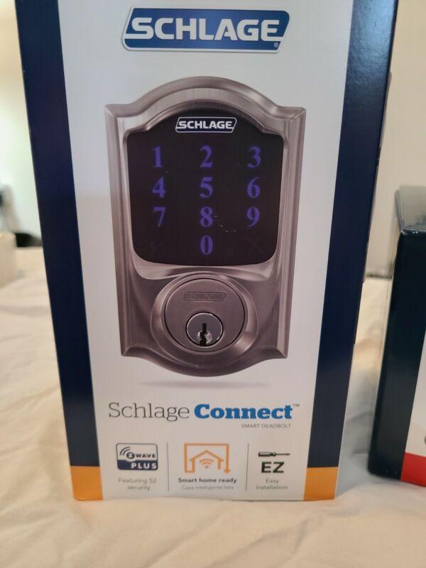 Schlage BE469ZPVCAM619 Connect Camelot Touchscreen Lock - Satin Nickel