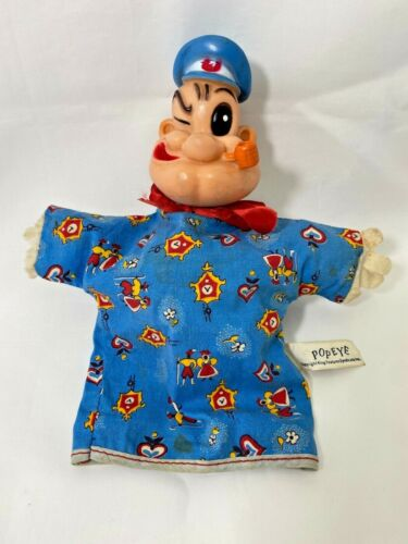 Popeye The Sailor Man Hand Puppet Gund Kings Feature Syndicate Licensed Vintage
