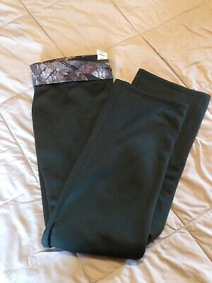 Under Armour Women's Fleece Relaxed Fit Cold Gear Sweat Pants Large Green