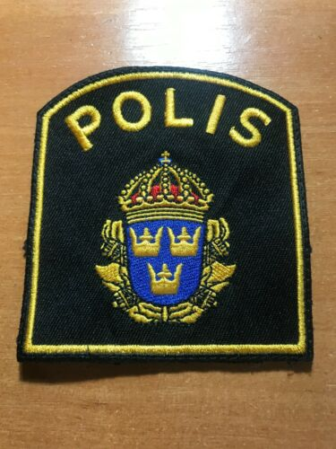 SWEDEN POLICE POLIS PATCH NATIONAL - ORIGINAL!