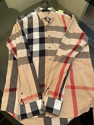 Men's Burberry Shirt Classic Pattern Size Medium
