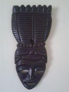 Vintage - African mask of ebony - Maska afrykańska z hebanu - <span itemprop='availableAtOrFrom'>Skierbieszów, Polska</span> - Vintage - African mask of ebony - Maska afrykańska z hebanu - Skierbieszów, Polska