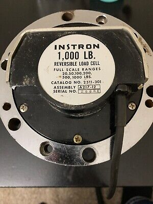 Instron A217-12 - 1000 LBS Load Cell Reversible 20 50 100 200 500 1000 NOS for sale  Shipping to Canada