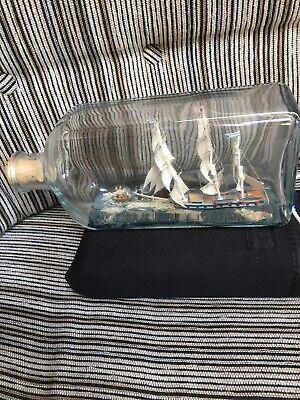 vintage ship in a bottle