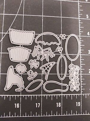 Universal Die Cut Tool Thin Metal Emboss Halloween Cupcake Spider Web Witch Hat - Witch Hat Cupcakes