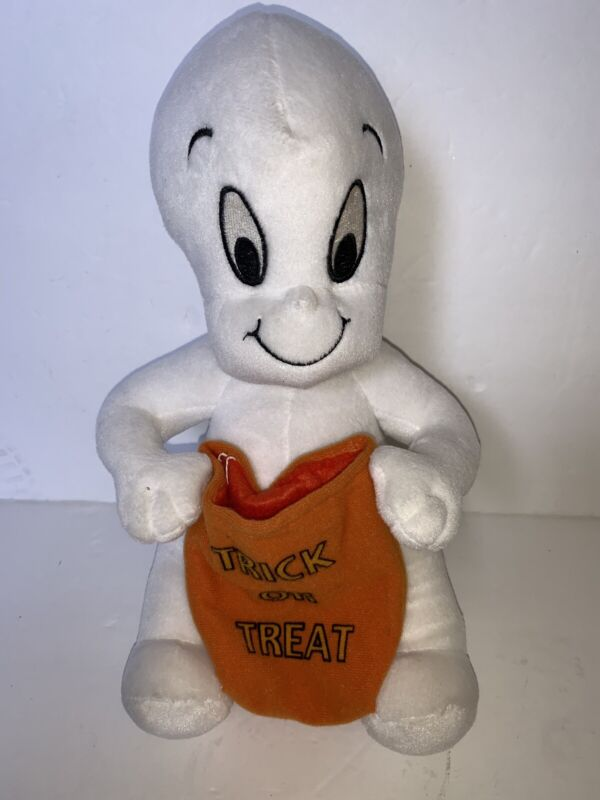 Vintage Harvey Toons Casper The Friendly Ghost Plush Stuffed Toy Halloween Rare