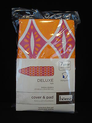 "Homz Stainguard Extra-Thick Fiber Pad Ironing Board Cover & Pad 13-15"" x 53-55"""