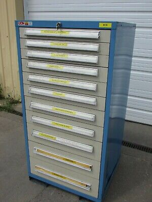 Lyon 11-drawer Tool Cabinet 3 4 5 7 Deep Drawers 59.5 X 30 X 27.5