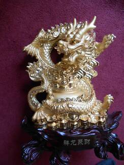 Dragon Gold Statue New Fantastic Detail. Cleveland Redland Area Preview