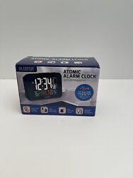 LA CROSSE Smart Phone Charging Atomic Alarm Clock Large LED Display USB Charger