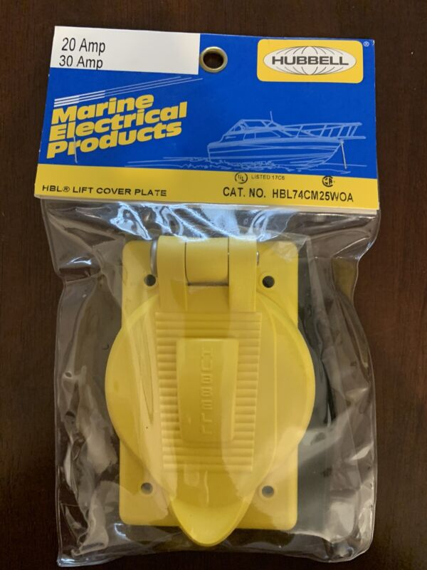 HUBBELL WIRING DEVICE-KELLEMS HBL74CM25WOA Weatherproof Cover,Vertical,Yellow