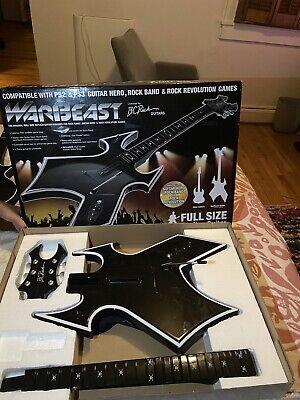 DreamGear B.C. Rich WARBEAST PS3/PS2 Wireless Guitar Hero Original NO DONGLE.