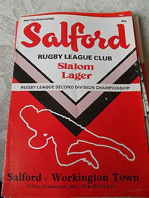 2.10.81 Salford v Workington Town programme