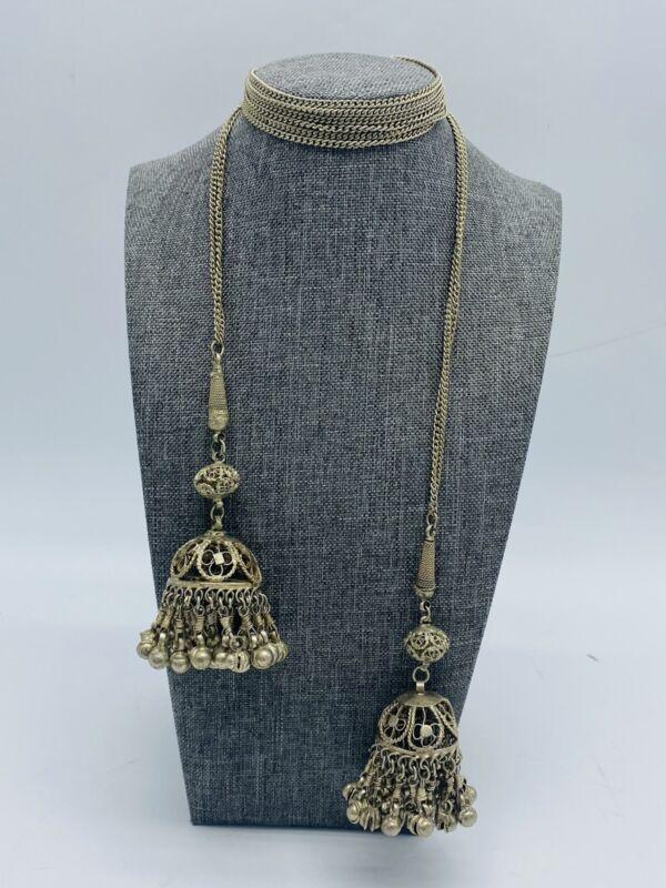 Vintage Banjara Kuchi Belly Dancer Necklace Belt Necklace Bell Chain Boho Gypsy
