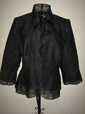 A LOVELY BLACK PRET A PORTER COLLECTION WITH SHOULDER PADS JACKET SIZE 12