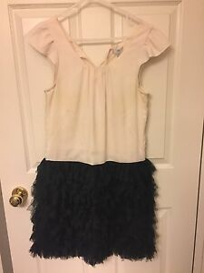 Gap dress with feathery skirt! (size 4)