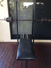 Bench Press, Squat Wrack - Bars & Weights + Bench Seat Bridgeman Downs Brisbane North East Preview