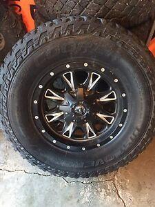 "Dodge 3/4ton  17"" fuel rims  and tires"