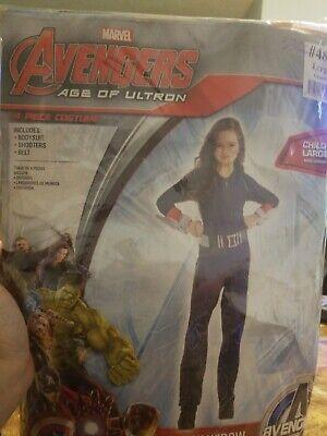Avengers Black Widow Child Costume Age Of Ultron Marvel Size Large #253