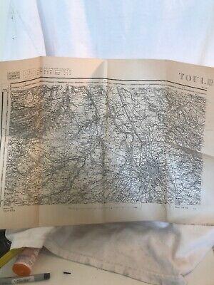 Vintage 1889 map of TOUL France Y379