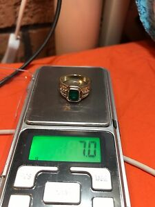 HANDMADE EMERALD DIAMOND RING VER HEAVY COST $2500 Ask $350 Tenambit Maitland Area Preview